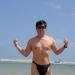Me posing on Henoko beach in Nago city